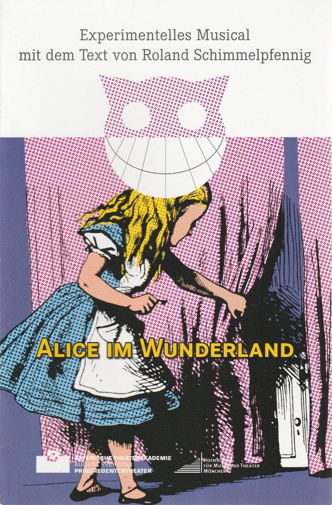 Programmheft Alice im Wunderland Bayerische Theaterakademie August Everding 2014