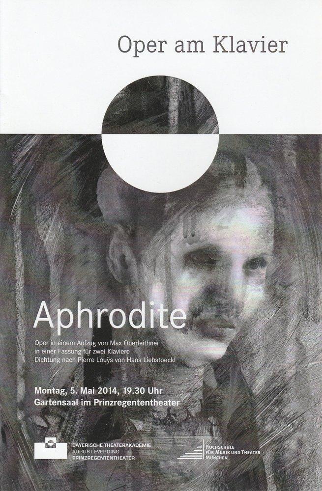 Programmheft Oper am Klavier: Aphrodite Bayerische Theaterakademie 2014