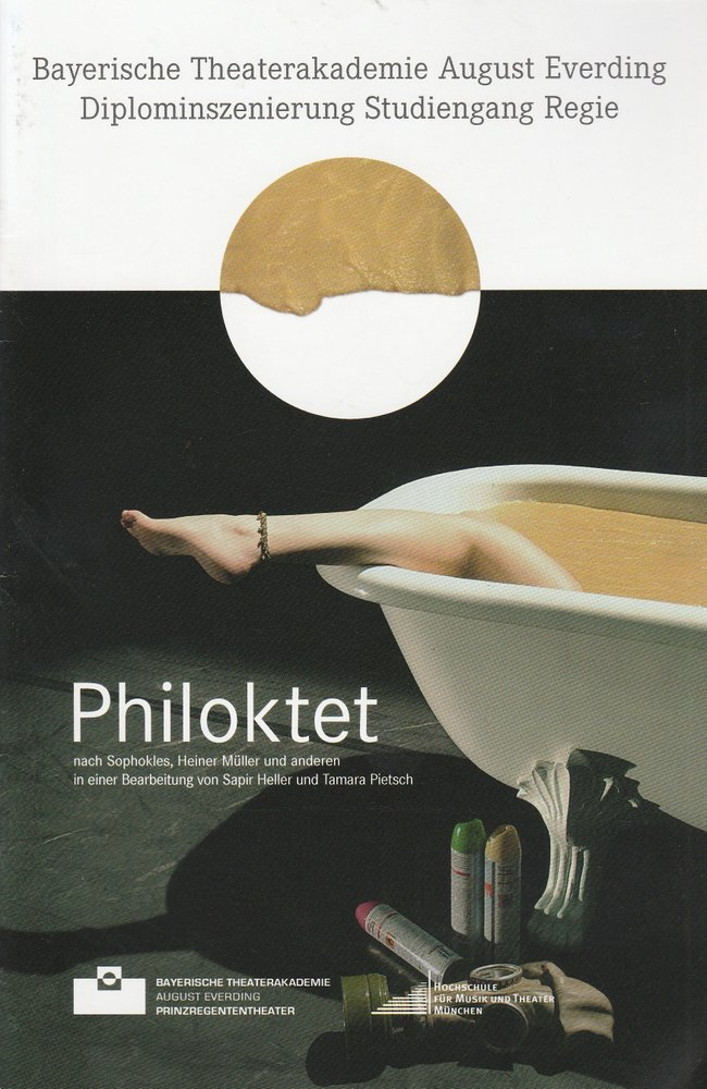 Programmheft Philoktet. Diplominszenierung Studiengang Regie München 2014
