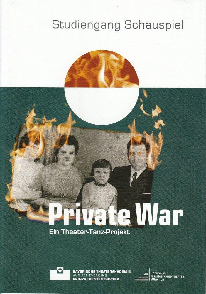 Programmheft Private War Bayerische Theaterakademie 2010