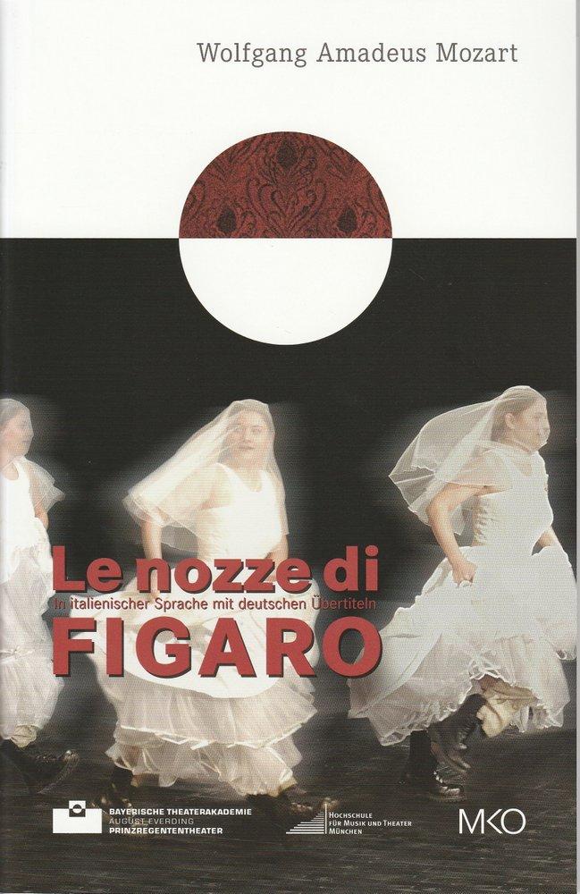 Programmheft Le nozze di Figaro Bayerische Theaterakademie 2010