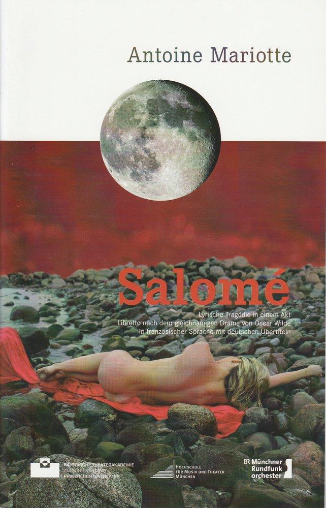 Programmheft SALOME von Antoine Mariotte Bayerische Theaterakademie 2014