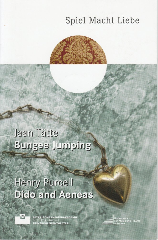 Programmheft Bungee Jumping / Dido and Aeneas Bayerische Theaterakademie 2011
