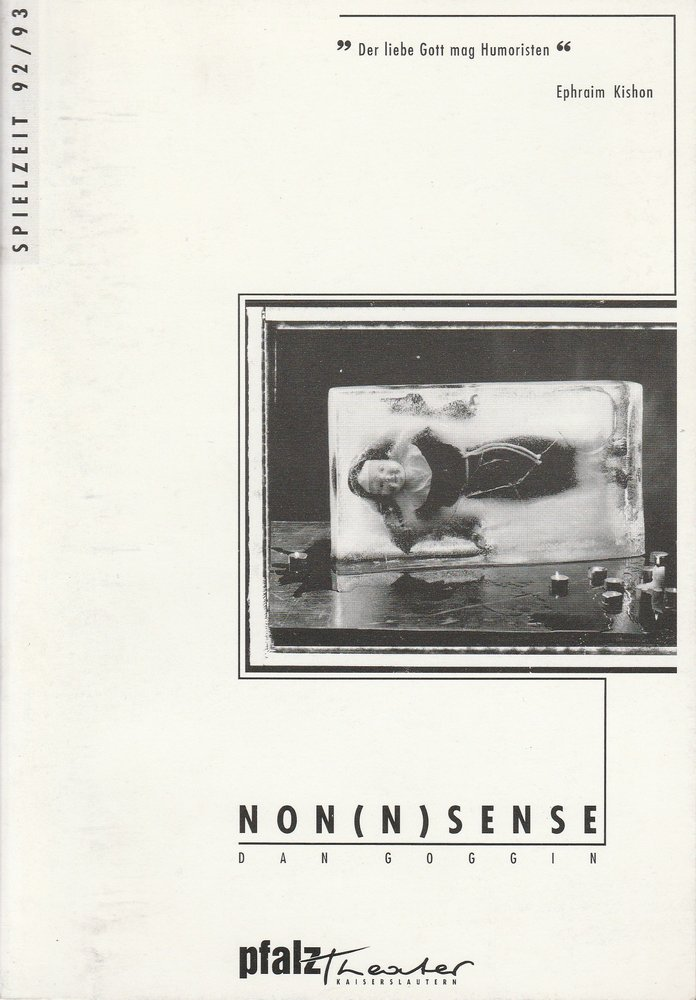 Programmheft NON(N)SENSE von Dan Goggin Kaiserslautern 1992