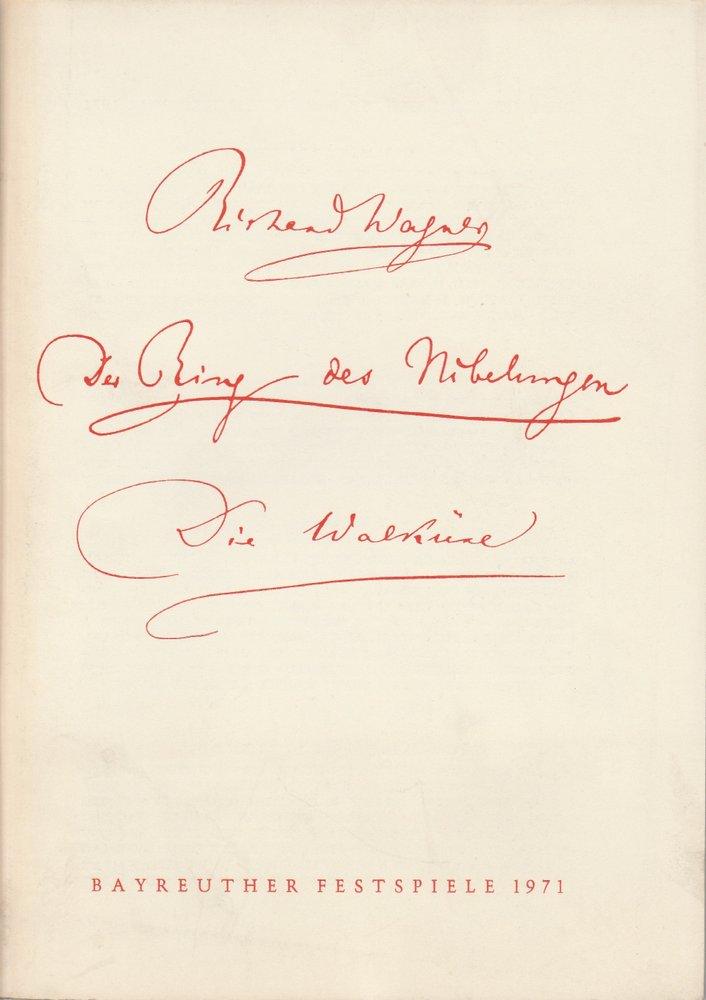 Programmheft Die Walküre Bayreuther Festspiele 1971