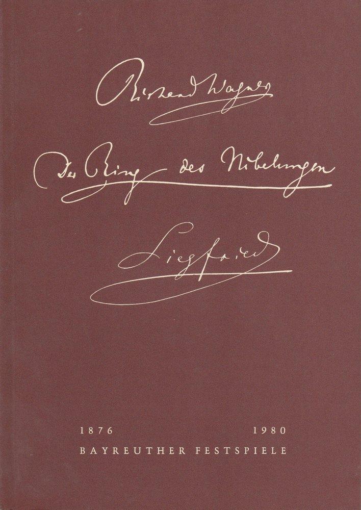 Programmheft VI Siegfried Bayreuther Festspiele 1980