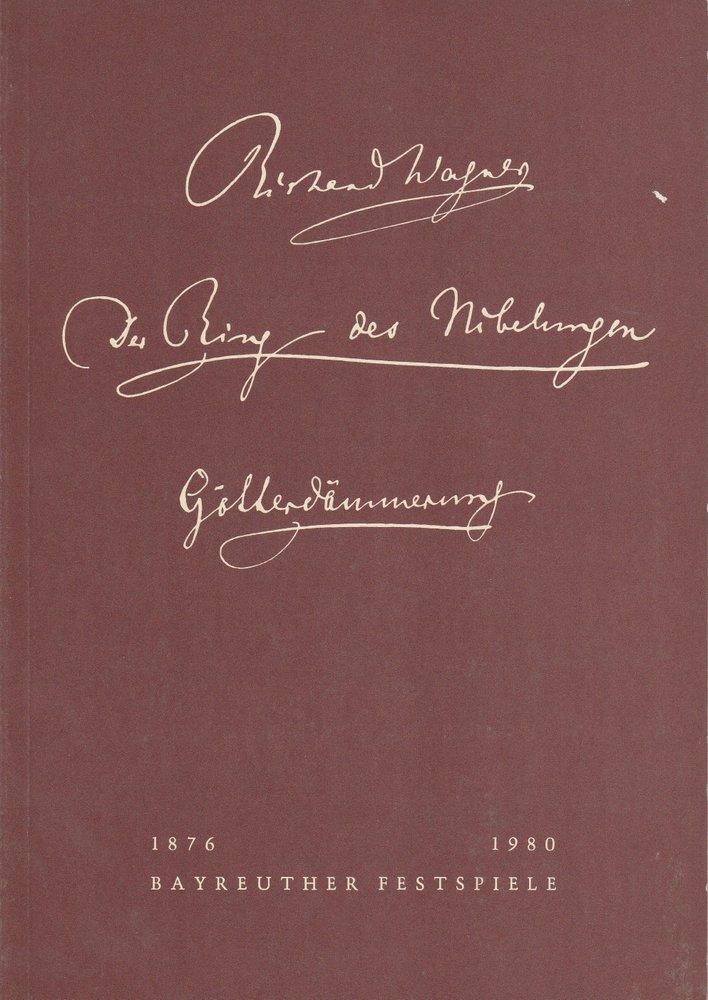 Programmheft VII Götterdämmerung Bayreuther Festspiele 1980