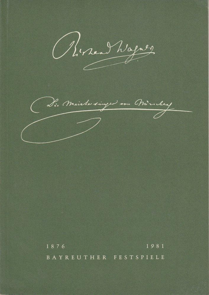 Programmheft II Die Meistersinger von Nürnberg Bayreuther Festspiele 1981