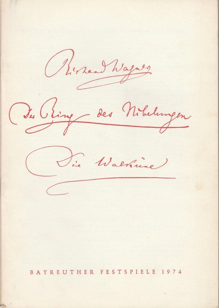 Programmheft V Die Walküre Bayreuther Festspiele 1974