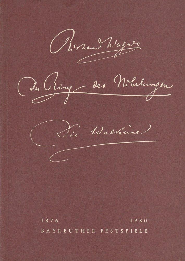 Programmheft V Die Walküre Bayreuther Festspiele 1980