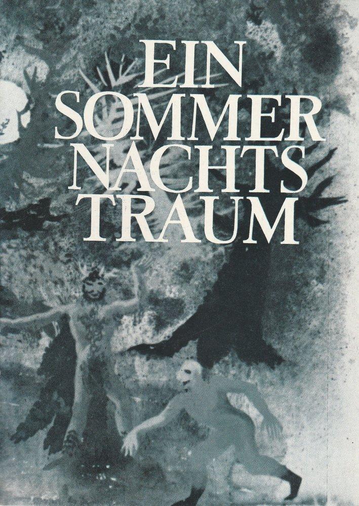 Programmheft Ein Sommernachtstraum Städtische Theater Leipzig 1968