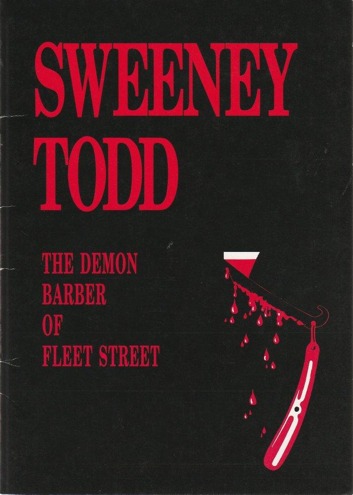 Programmheft Sweeney Todd Seymour Theatre Company 1992