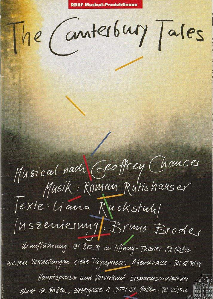 Programmheft Uraufführung THE CANTERBURY TALES Tiffany Theater St. Gallen 1991