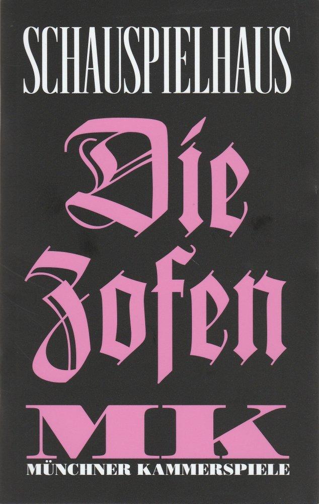 Programmheft Jean Genet: DIE ZOFEN Münchner Kammerspiele 2014