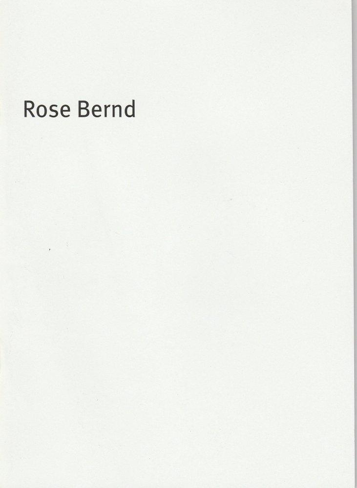Programmheft Gerhart Hauptmann: Rose Bernd Bayerisches Staatsschauspiel 2010