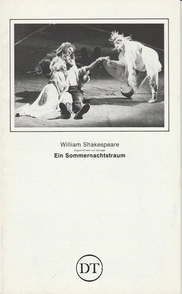 Programmheft Ein Sommernachtstraum Deutsches Theater in Göttingen 1984