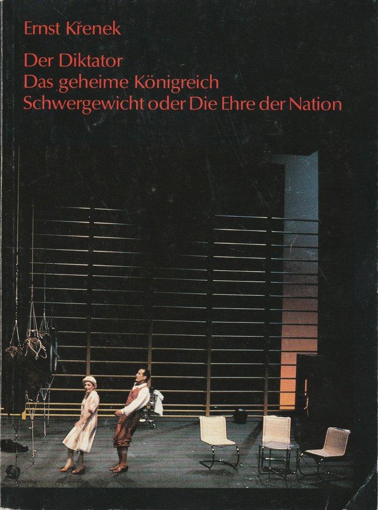 Programmheft Der Diktator Das geheime Königreich Schwergewicht Stuttgart 1990