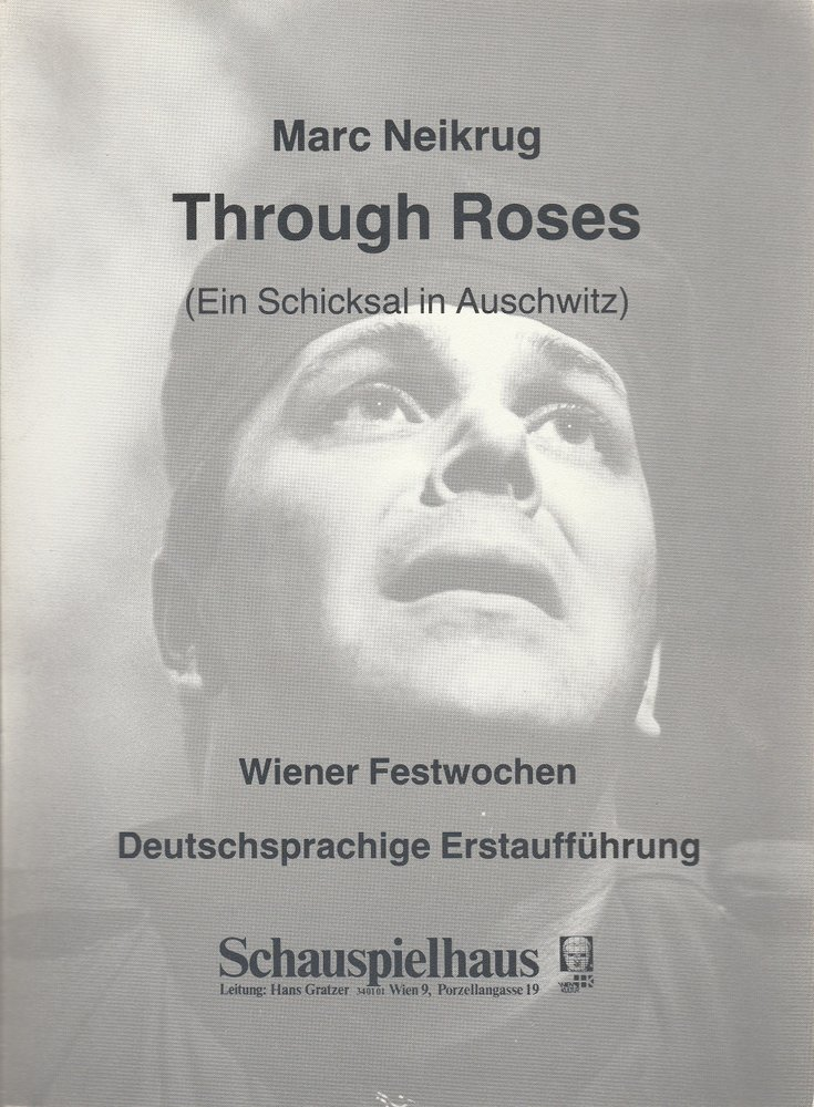 Programmheft Marc Neikrug: Through Roses Schauspielhaus Wien 1983