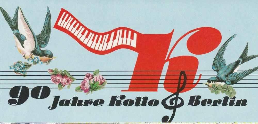 Programmheft 90 Jahre Kollo Berlin. Walter Kollo - Willi Kollo - Rene Kollo