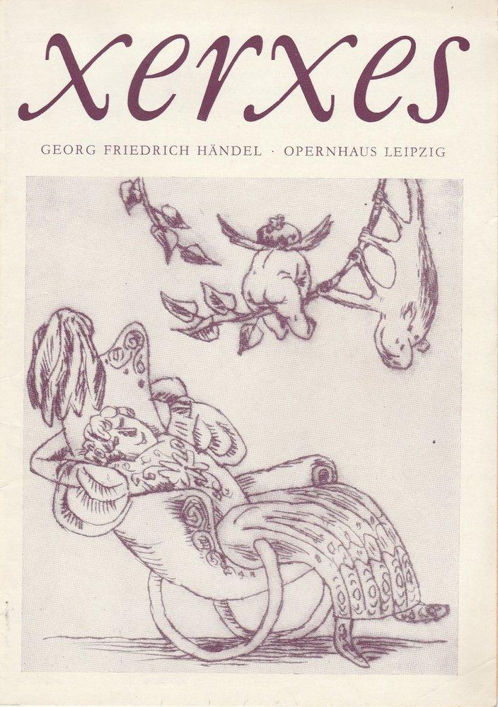 Programmheft Georg Friedrich Händel: XERXES Opernhaus Leipzig 1974