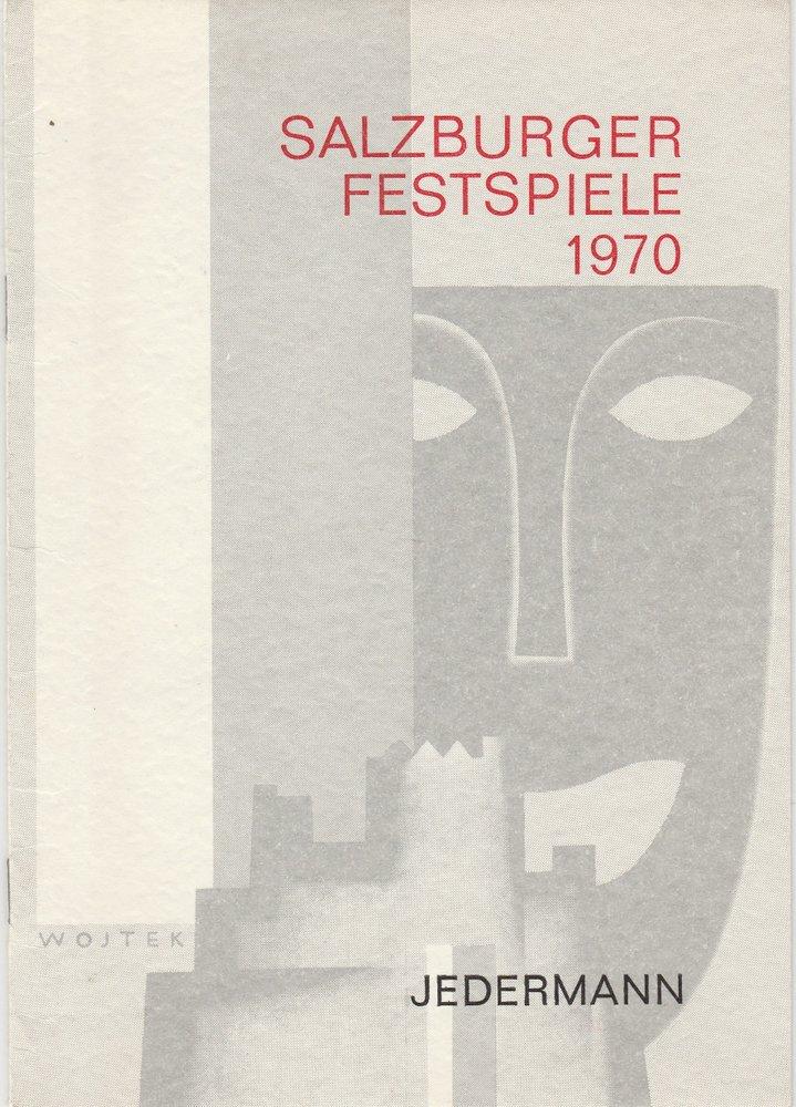Programmheft JEDERMANN Hugo von Hofmannsthal Salzburger Festspiele 1970
