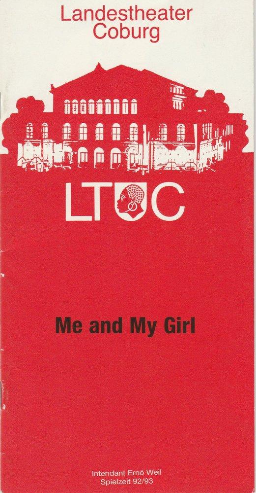 Programmheft Me and My Girl. Mucial Landestheater Coburg 1992