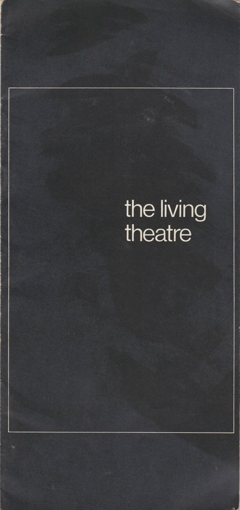 Programmheft mysteries and smaller pieces The Living Theatre Beck Malina 1964