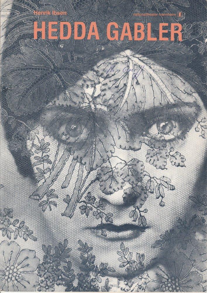 Programmheft HEDDA GABLER von Henrik Ibsen Nationaltheater Mannheim 1980