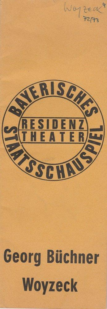Programmheft Georg Büchner: WOYZECK Residenztheater 1972