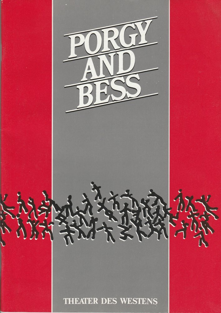 Programmheft George Gershwin: PORGY AND BESS Theater des Westens 1989