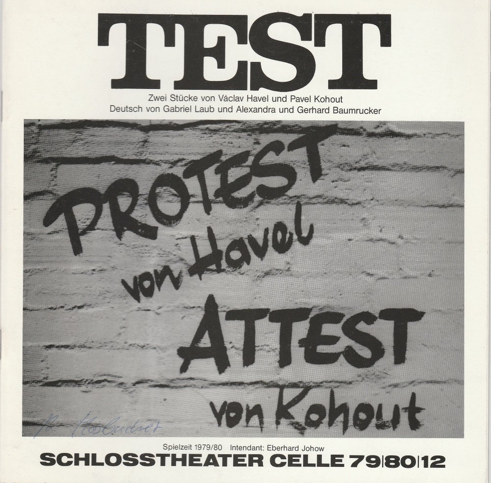Programmheft TEST. Zwei Stücke von Vaclav Havel und Pavel Kohout Celle 1980