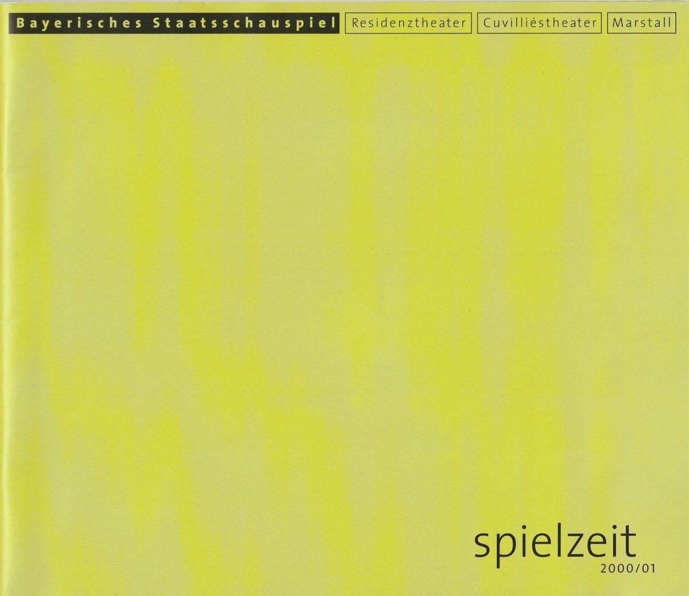 Programmheft Bayerisches Staatsschauspiel Spielzeit 2000 / 01 Spielzeitheft