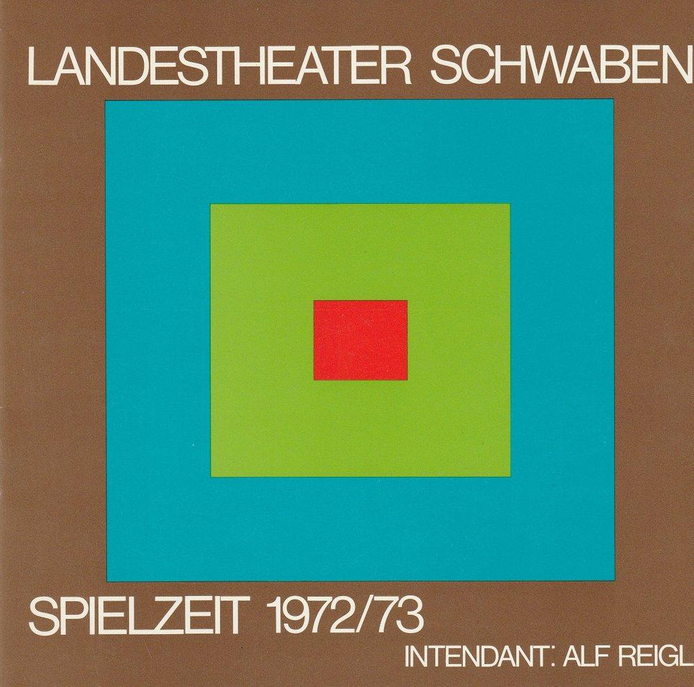 Programmheft Landestheater Schwaben Spielzeit 1972 / 73 Spielzeitheft