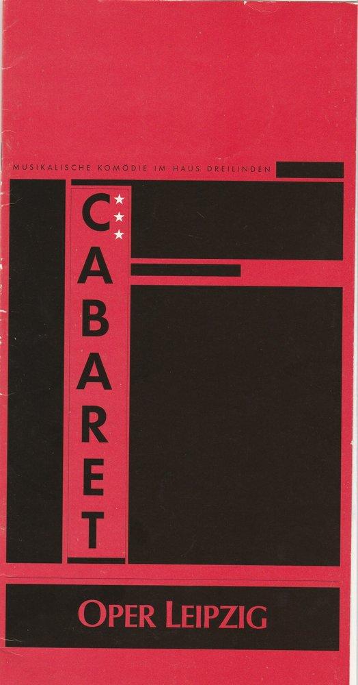 Programmheft CABARET. Musical Oper Leipzig Haus Dreilinden 1994