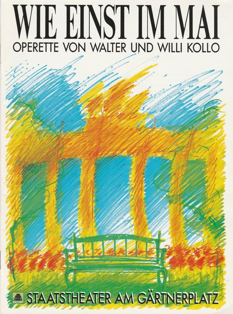 Programmheft Kollo WIE EINST IM MAI Staatstheater am Gärtnerplatz 1982