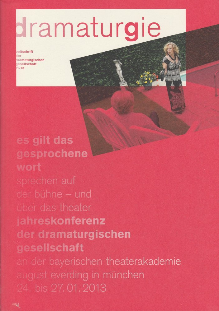 dramaturgie. Zeitschrift der dramaturgischen Gesellschaft 01 / 13