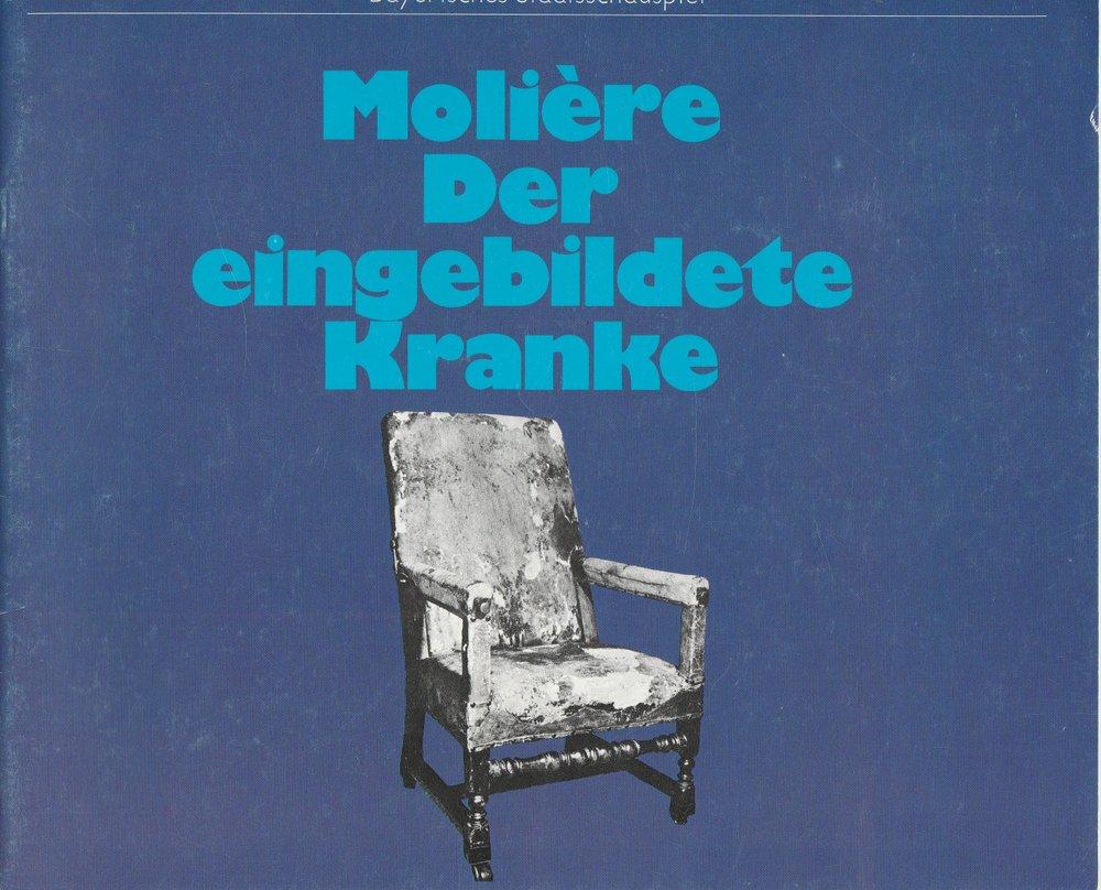 Programmheft Moliere Der eingebildete Kranke Bayerisches Staatsschauspiel 1980