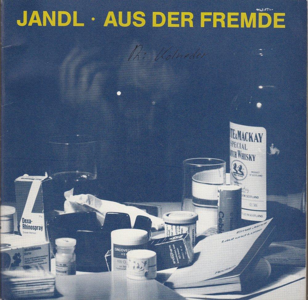 Programmheft Aus der Fremde. Sprechoper von Ernst Jandl Hannover 1982