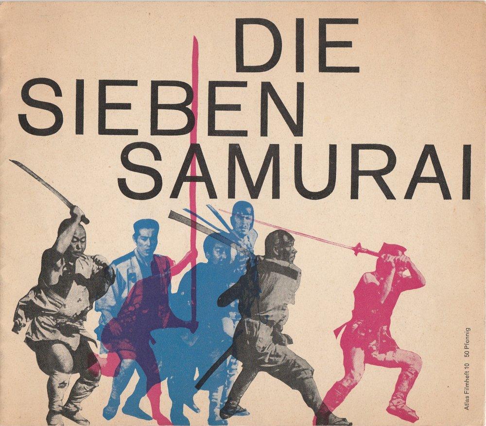 Programmheft Die sieben Samurai von Akira Kurosawa. Atlas Filmhefte 10