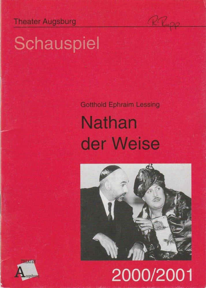 Programmheft NATHAN DER WEISE Gotthold Ephraim Lessing Augsburg 2000