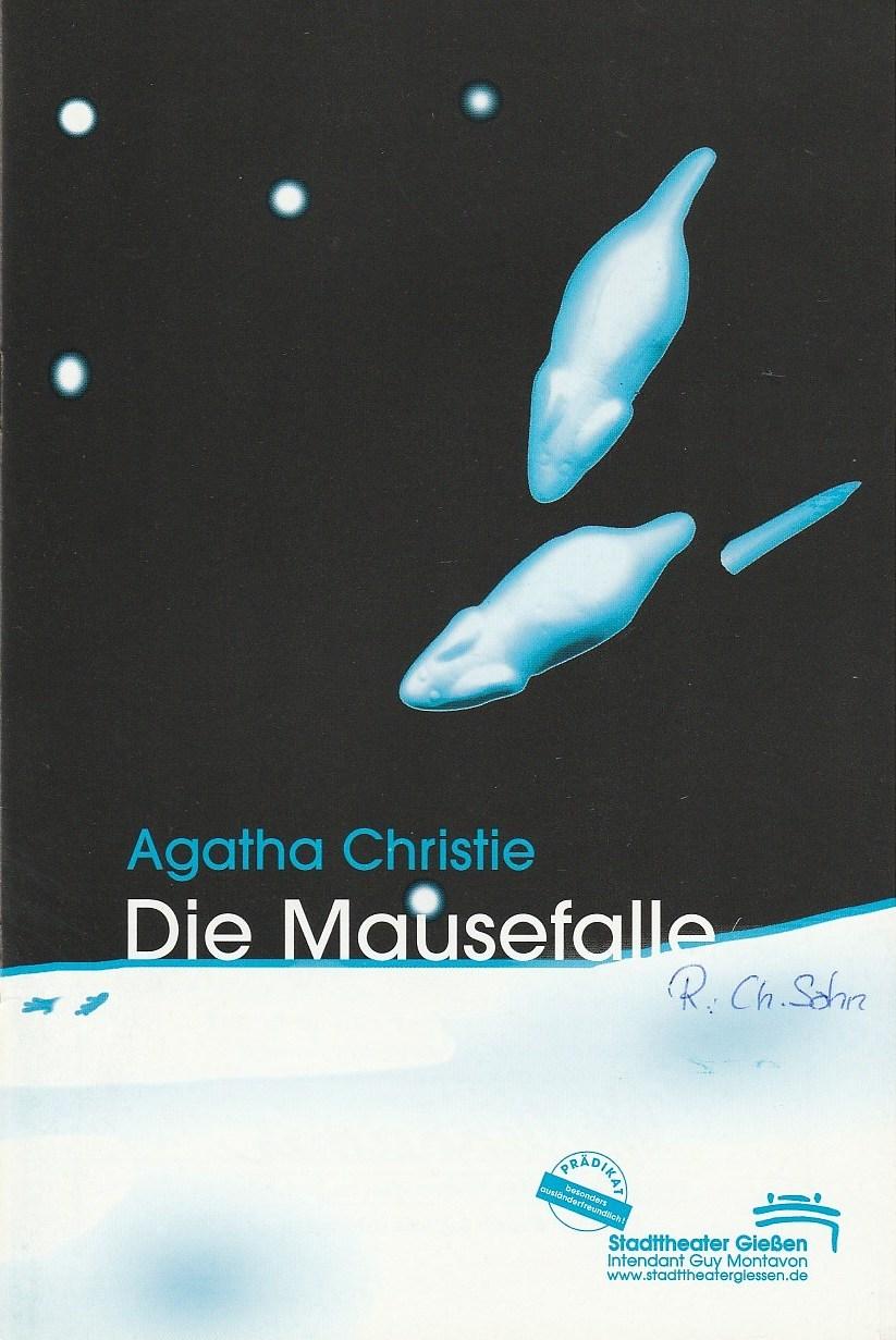 Programmheft Die Mausefalle. Stück von Agatha Christie Stadttheater Gießen 2000