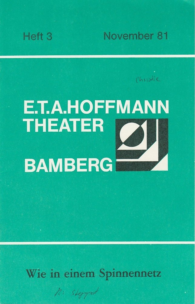 Programmheft Agatha Christie Wie in einem Spinnennetz Bamberg 1981