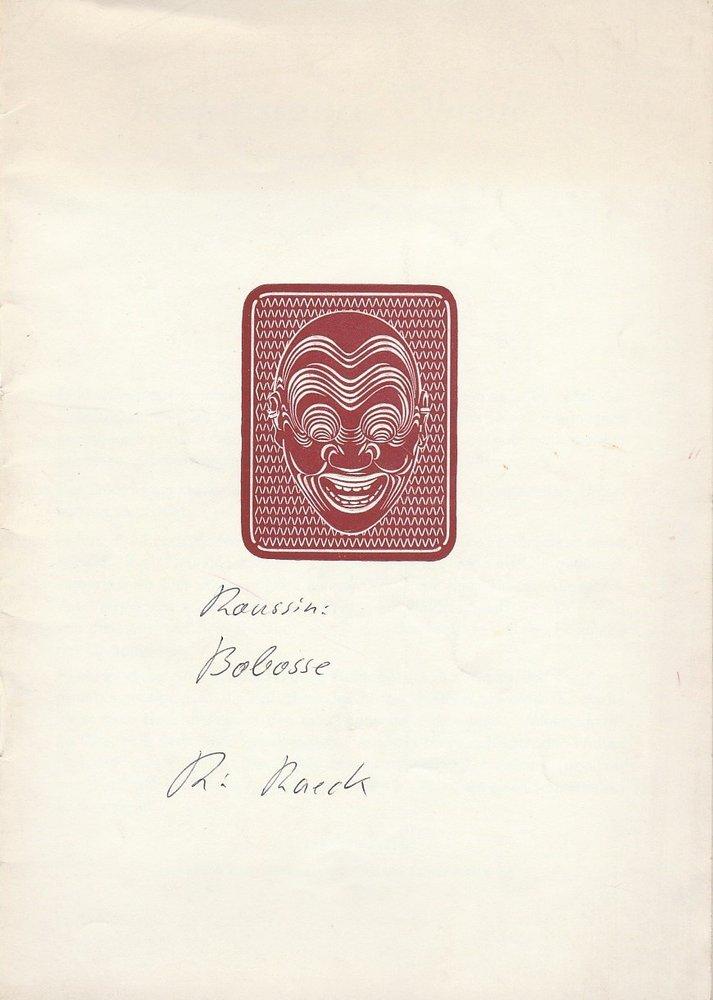 Programmheft BOBOSSE von Andre Roussin Renaissance-Theater Berlin 1952