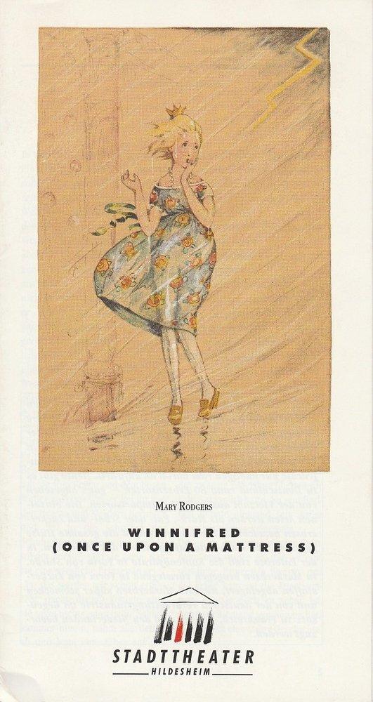 Programmheft WINNIFRED. Musical von Mary Rogers Stadttheater Hildesheim 1990