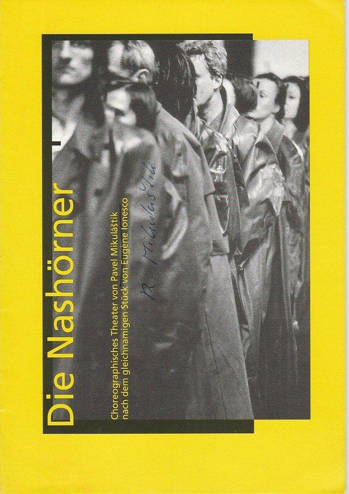 Programmheft Die Nashörner von Pavel Mikulastik Freiburg 1993
