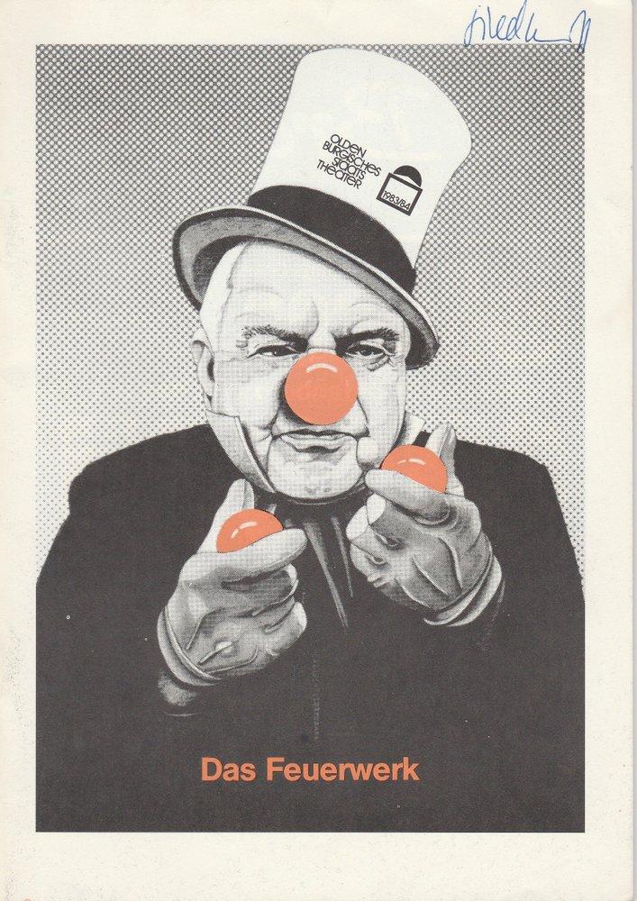Programmheft DAS FEUERWERK von Paul Burkhard Oldenburg 1983