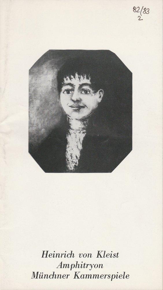 Programmheft Heinrich von Kleist: Amphitryon Münchner Kammerspiele 1982