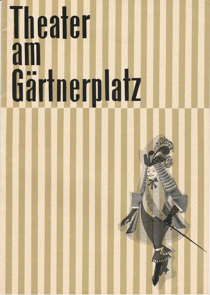 Programmheft Schneeflöckchen ( Snegurotschka ) Theater am Gärtnerplatz 1962