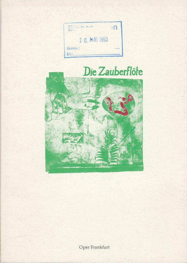 Programmheft Wolfgang Amadeus Mozart: Die Zauberflöte Oper Frankfurt 1980