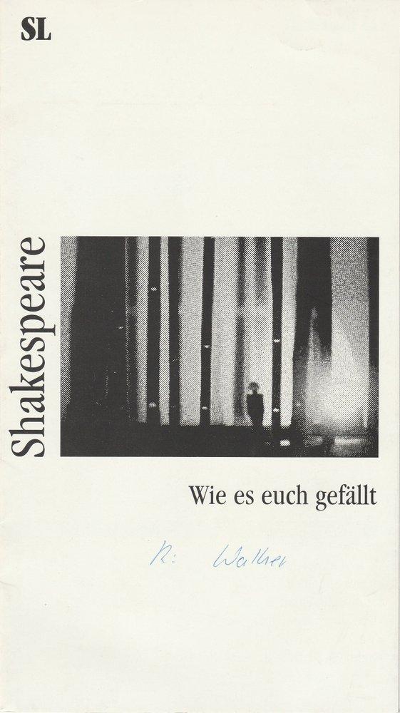 Programmheft Shakespeare: Wie es euch gefällt Stadttheater Luzern 1993